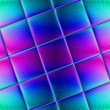 Multi-colored stained glass art glass tile for design works. — Stockfoto #45460181