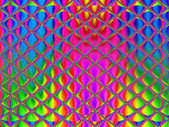 Multi-colored stained glass art glass tile for design works.     — Stock Photo