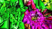 Dekorativní hromadné umělecké barevné mosaic stone, jako samostatné pí — Stock fotografie