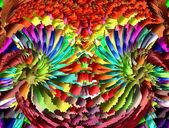 Decorative bulk artistic colorful mosaic stone, as a separate pi — Stock Photo