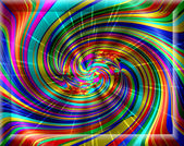 Spontaneous harmony swirl in multicolored colors and strictly re — Stock Photo