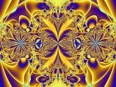 Colorful fractal decorative feature, magic splendor, wonderful h — Stock Photo