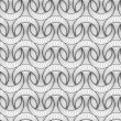 Abstract vector seamless pattern with 3D lined half-moon-like fi - Stock Vector