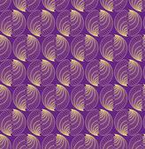 Abstrakt vektor seamless mönster med befjädrade siffror — Stockvektor