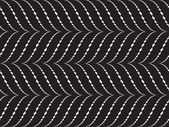 Abstract vector seamless pattern with white waves on black background — Stock Vector