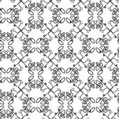 グリッドの構造と (フリーハンド) の抽象的なシームレスな黒と白パターン — ストックベクタ
