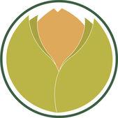 Produto ecológico indicando do emblema — Vetorial Stock