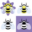 Vector illustration of a bumble bee — Stock Vector