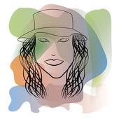 Abstract illustration of a girl — Stock Photo