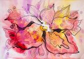 Vackra abstrakt blomma — Stockfoto