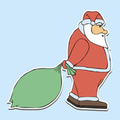 Children's holiday illustration santa claus — Vector de stock