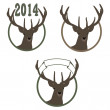 Vector de stock : Illustration of deer symbol of New Year