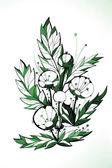 Beautiful abstract illustration of dandelions — Stock Photo