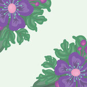Bright floral background with space for text — Stock Vector