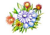 Piękny duży bukiet kwiaty — Zdjęcie stockowe