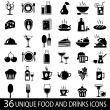 Big_set_food_icons - Stock Vector