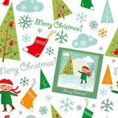 Merry_christmas_pattern — Vettoriale Stock