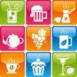 Stock Vector: Food_drinks_icons