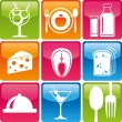 Food_icons_color - Image vectorielle