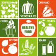 Healthy_food_icons - Image vectorielle