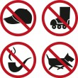 Set_prohibited_signs — Stock Vector