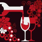 Red_wine — Stock Vector