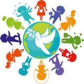 Dove_children_world — Wektor stockowy