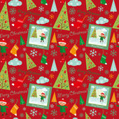 Merry_christmas_pattern_boys — Stock vektor