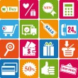 Stock Vector: Shopping_icons