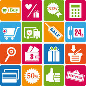Shopping_icons — Stock Vector
