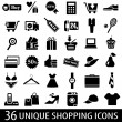 Set_shopping_icons — Stock Vector