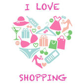 I_love_shopping — Stock Vector