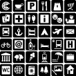 Tourist Icons — Stock Vector