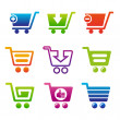 Stock Vector: ShoppingCartSet