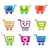ShoppingCartSet — Stock Vector