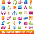 colorbusinessicons — Vector de stock