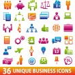 ColorBusinessicons — Stock Vector