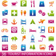ColorTouristIcons - Stock Vector