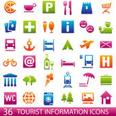 ColorTouristIcons — Stock Vector