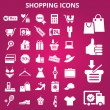 Shoppingicons — Stock Vector