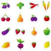 Volume Fruits Vegetables — Stock Vector