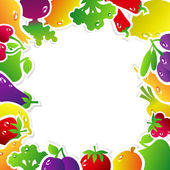 Frame Fruits Vegetables — Stock Vector