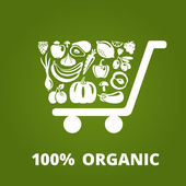 Organic Cart — Stock Vector