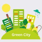 GreenCity — Stock Vector