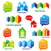 RealEstateIcons — Stock Vector