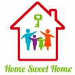 SweetHome — Stock Vector