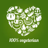 Vegeterian — Stock Vector