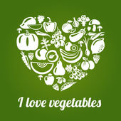 LoveVeg — Stock Vector