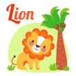 Stock Vector: LionLetter