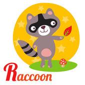 RaccoonL — Stock Vector